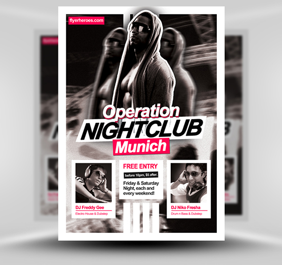 Operation Nightclub Free Flyer Template