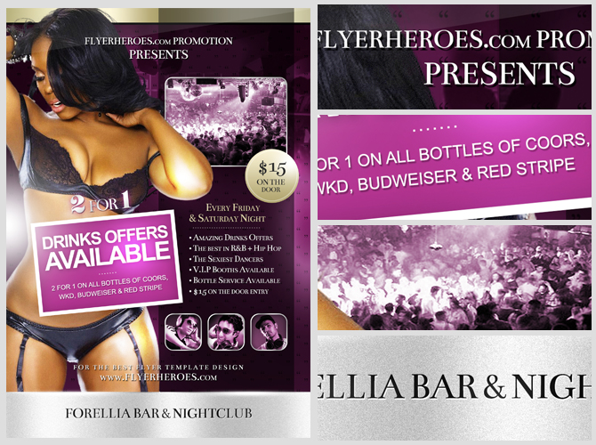 Forellia Free Bar Flyer Template – Bar Flyer Template