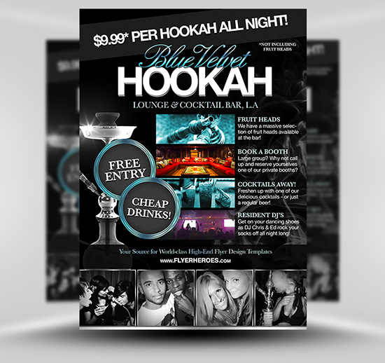 Free Hookah Lounge Flyer Template – Bar Flyer Template