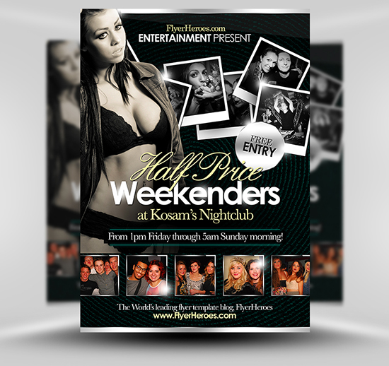 Half Price Weekenders Flyer Template