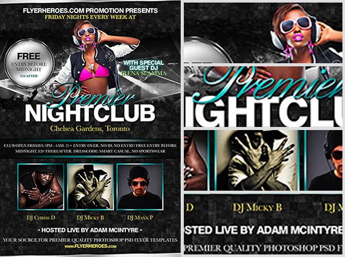 Club Flyer Template  TvsputnikTk