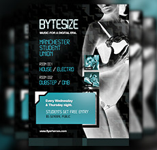 Bytezise Techno Flyer Template