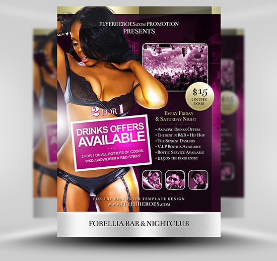 Forellia Free Bar Flyer Template