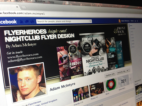 Free Facebook Timeline Cover Template for Flyer Designers 2