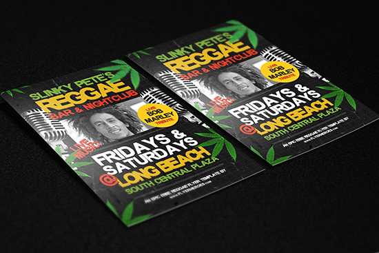 Free Reggae Flyer Template