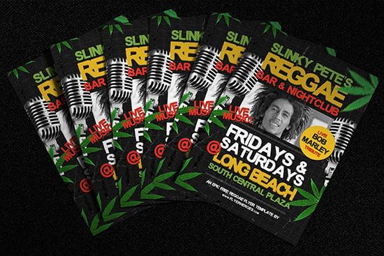 Free Reggae Flyer Template