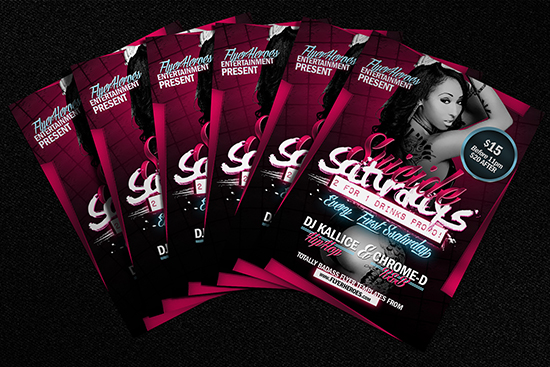 Suicide Saturdays Flyer Template Mockup