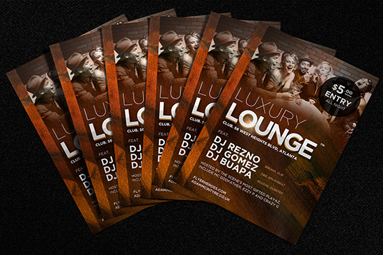 Luxury Lounge Flyer Template