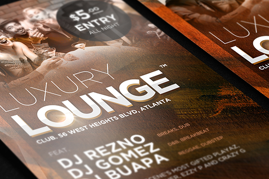 Temptation Lounge Free Flyer Template - Download For