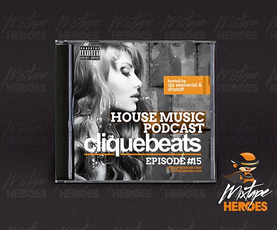 Cliquebeats House Music Mixtape Cover Template