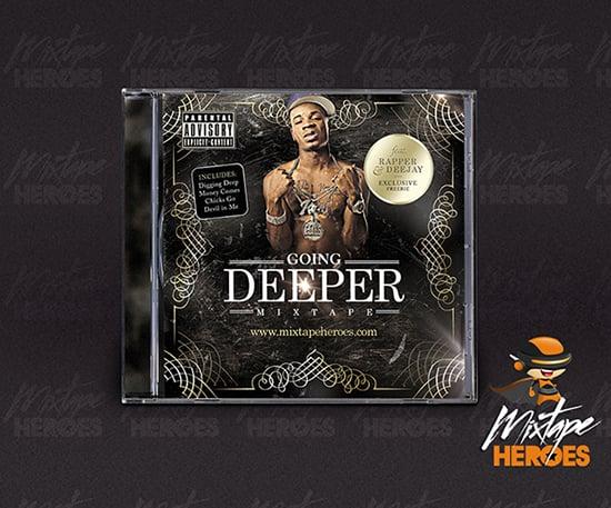 Going Deeper Mixtape Cover Template