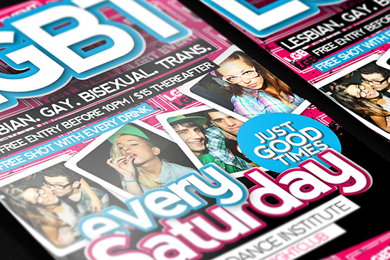 Lesbian Gay Bisexual Trans Free Flyer Template