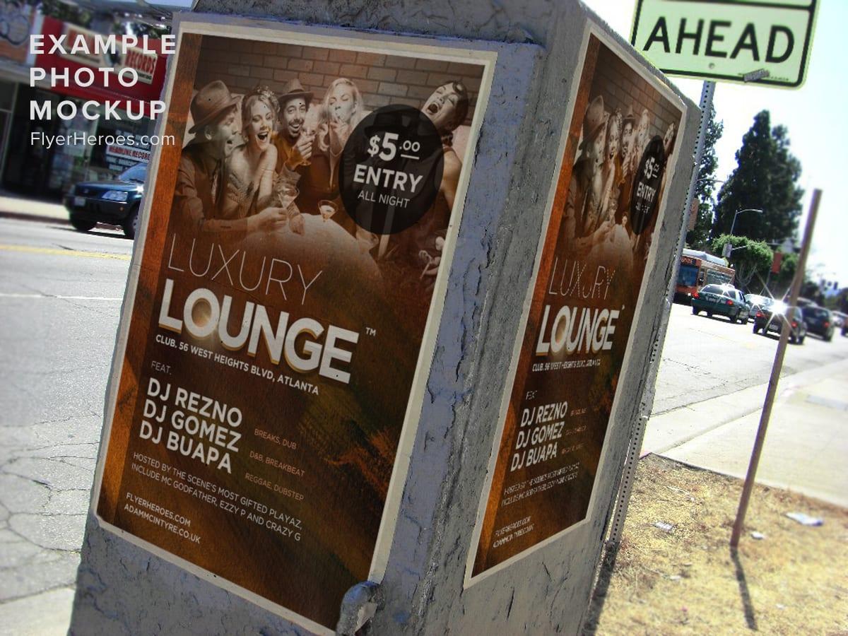 Luxury Lounge Free Flyer Template Flyerheroes