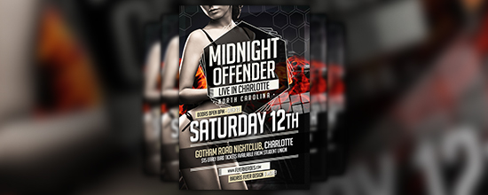 Midnight Offender Flyer Template