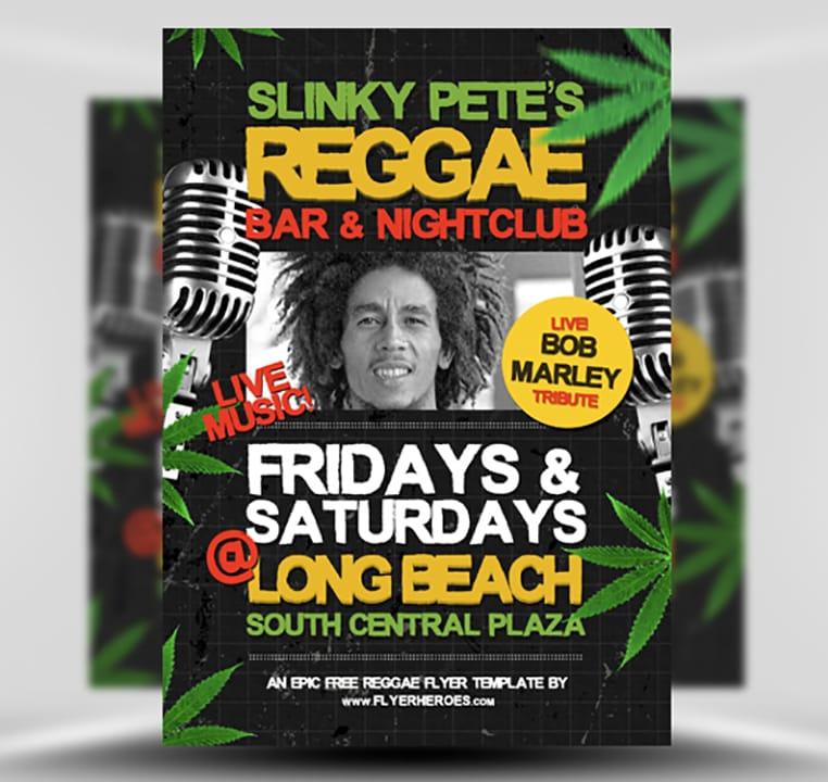Reggae Flyer Template 1
