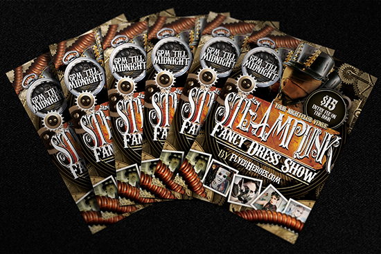 Steampunk Flyer Template Mockup