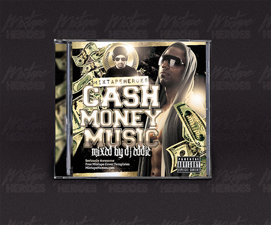 Cash Money Music Mixtape Cover Template