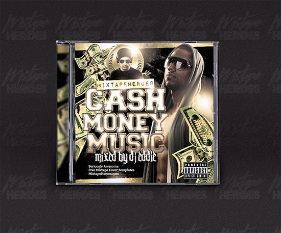 Cash Money Music Mixtape Cover Template