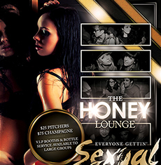 Honey Lounge Flyer Template