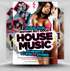 Free House Music Flyer Template