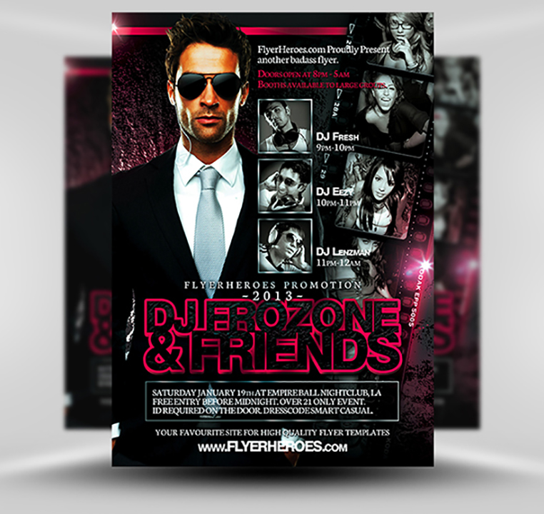 Frozone Free DJ Flyer Template