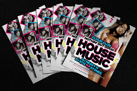 Photoshop PSD House Music Flyer Template