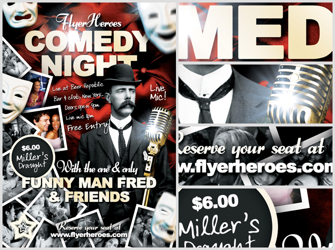 But Rest Ured Your Weekly Dose Of Free Flyer Goodness Is Here In All Its Glory This Week S Freebie A Comedy Template