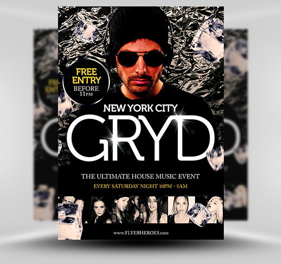 Gryd Free DJ Flyer Template