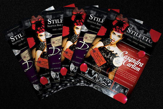 Stiletto Free Flyer Template Mockup 2
