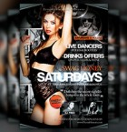 Swag Honey Saturdays Flyer Template