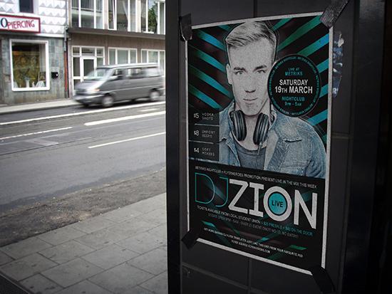 Free Nightclub Poster Template