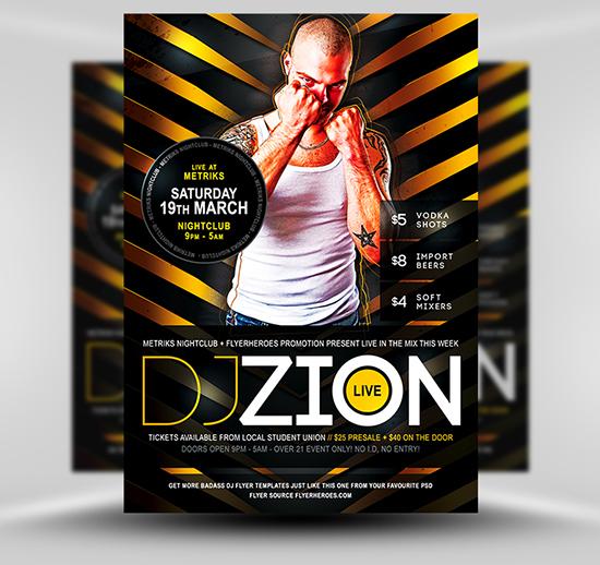 Zion Free DJ Flyer Template