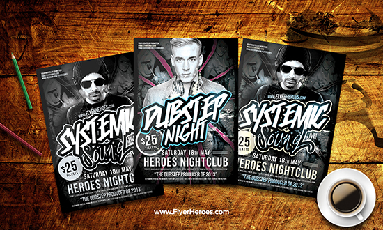 Free Dubstep Flyer Template