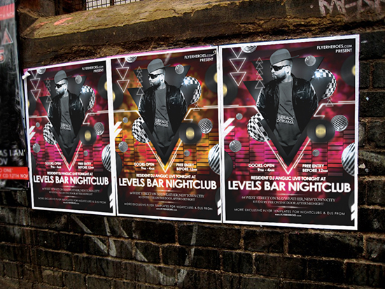 Levels Poster Mockup