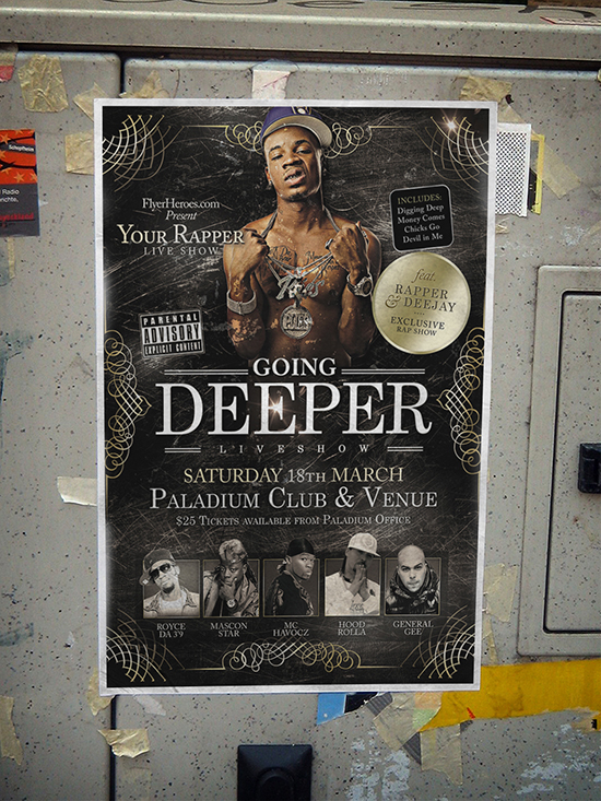 Going Deeper Flyer Template