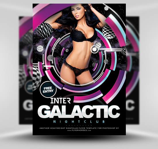 Inter Galactic Flyer Template by FlyerHeroes