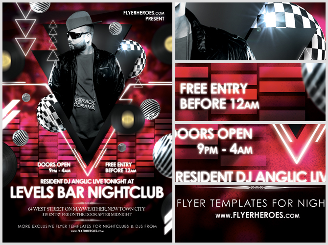 levels free nightclub flyer template