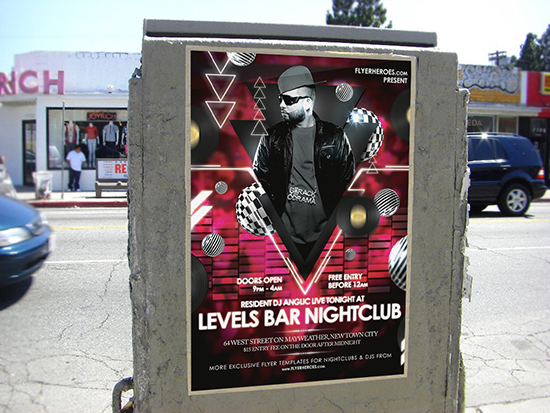 Levels Nightclub Flyer / Poster Template