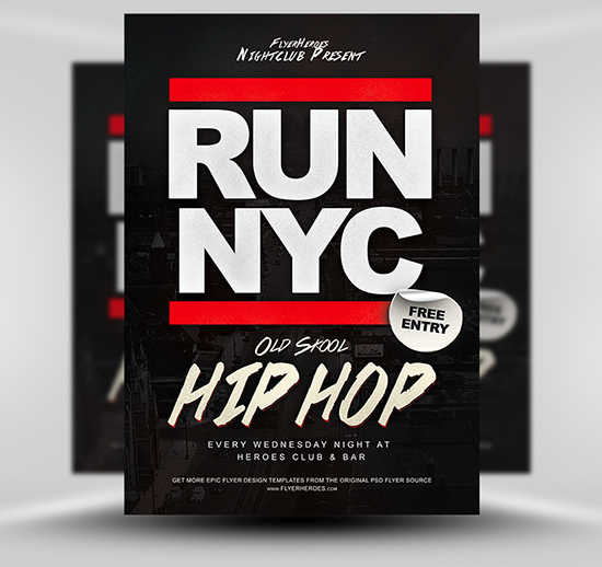 RUN NYC Flyer Template