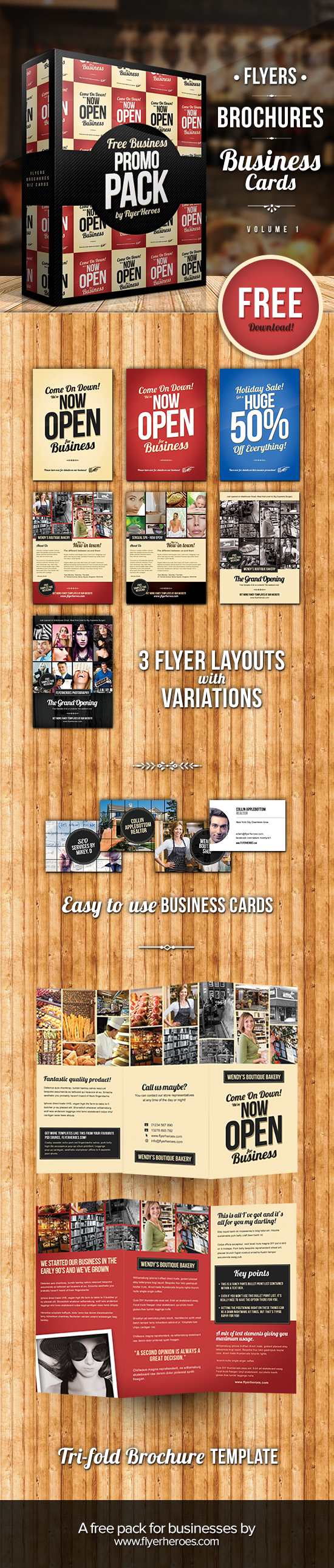 business promotion pack volume  business flyer and brochure templates