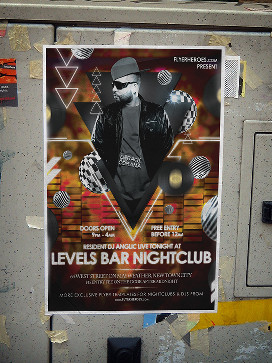 Free Nightclub Poster Template