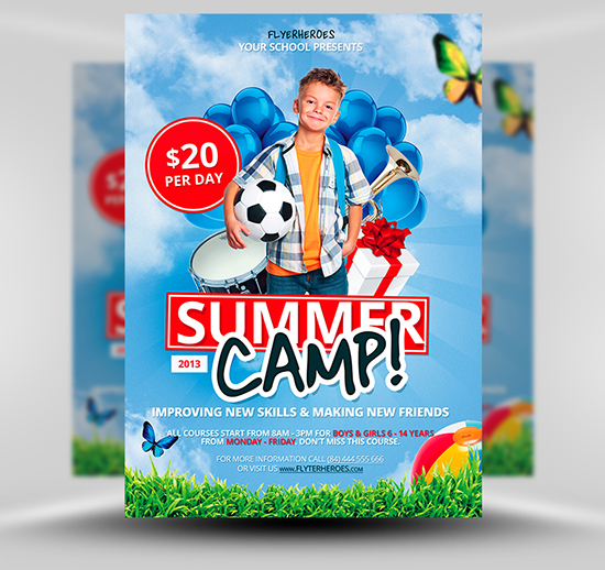 Free Summer Soccer Camp Flyer Template – Sports Flyers Templates Free