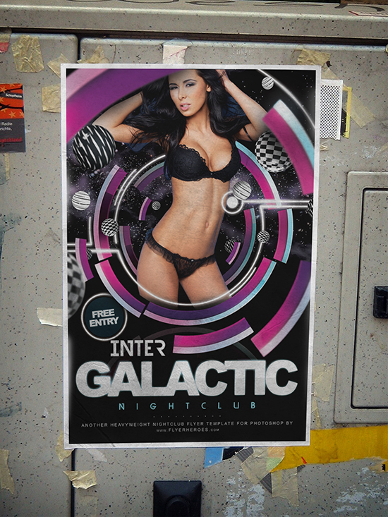 Inter Galactic Flyer Template Mockup