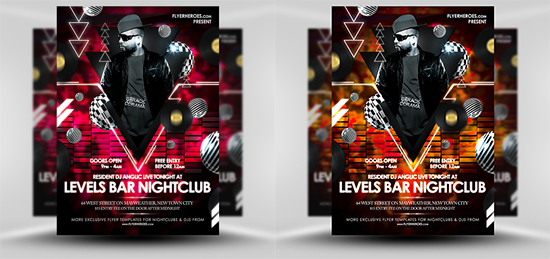 Levels Free Nightclub Flyer Template – Night Club Flyer