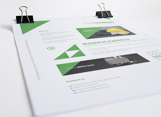 Free A4 Flyer / Poster Template