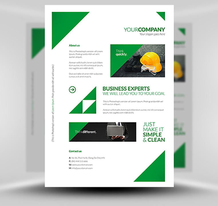 free clean corporate a4 flyer poster template