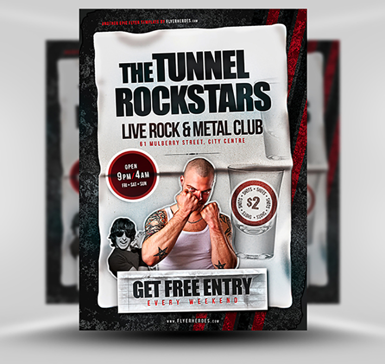 Free Rock Flyer Template