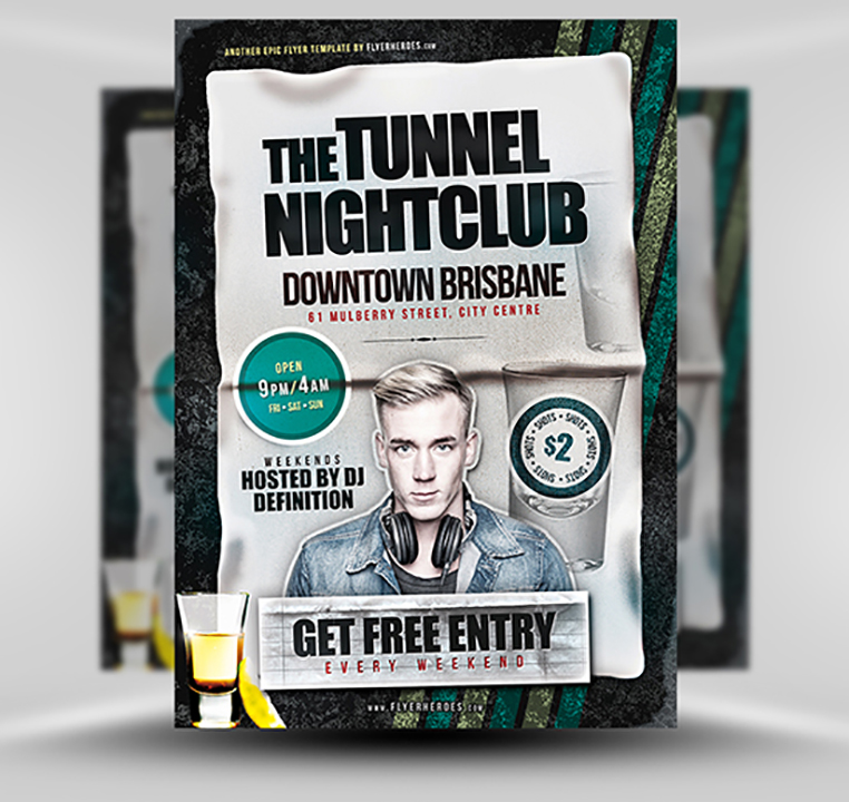 Tunnel Nightclub Flyer Template