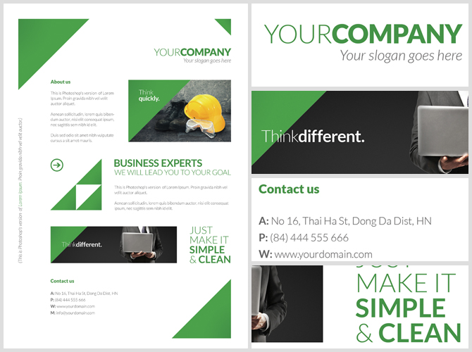 Free Clean Corporate A4 Flyer Poster Template – Advertising Poster Templates