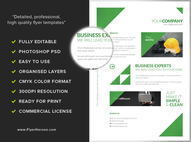 Cleaning Company Profile Sample. Free Clean Corporate A4 Flyer Poster  Template .  Professional Business Profile Template